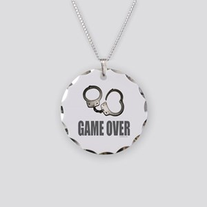 HANDCUFFS/POLICE Necklace Circle Charm