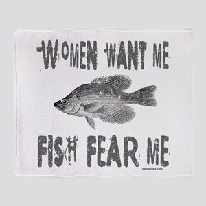 FISH FEAR ME Throw Blanket