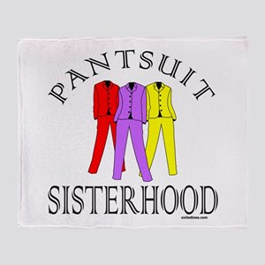 PANTSUIT SISTERHOOD Throw Blanket