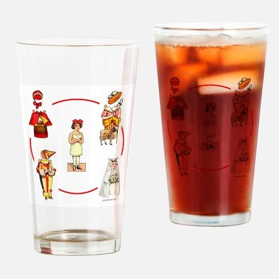 PAPER DOLLS Drinking Glass