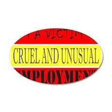 JOB/EMPLOYMENT/CAREER 22x14 Oval Wall Peel