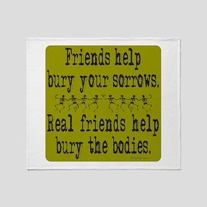REAL FRIENDS/FRIENDS Throw Blanket