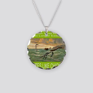 LOCH NESS/NESSIE Necklace Circle Charm