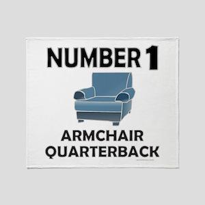 ARMCHAIR QUARTERBACK Throw Blanket