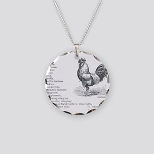 CHICKEN PARTS Necklace Circle Charm