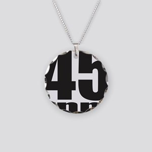 45 RPM Necklace Circle Charm
