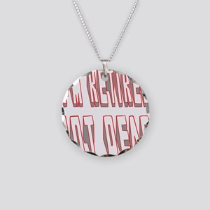 I'M RETIRED NOT DEAD Necklace Circle Charm