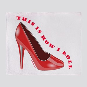 RED HIGH HEEL SHOES Throw Blanket