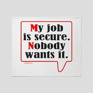 MY JOB Throw Blanket