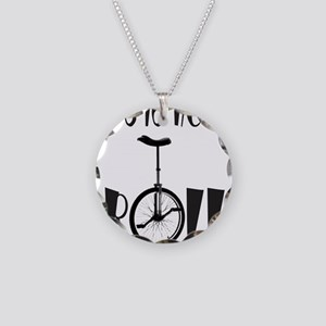 UNICYCLE/UNICYCLIST Necklace Circle Charm