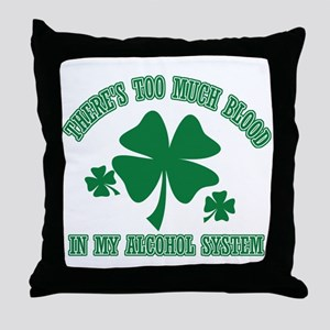 Funny retired Throw Pillow
