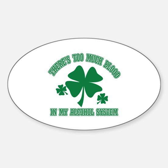 Funny retired Sticker (Oval)