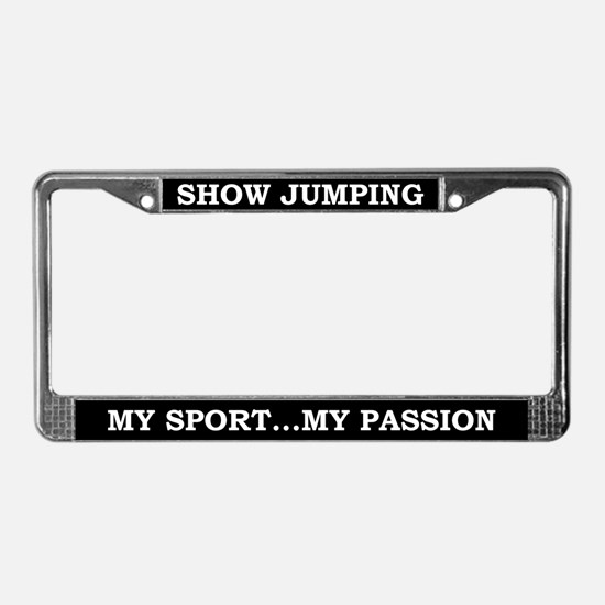 Show Jumping License Plate Frame