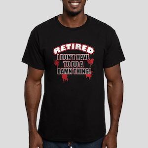 Funny retired Men's Fitted T-Shirt (dark)