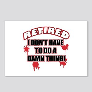Funny retired Postcards (Package of 8)