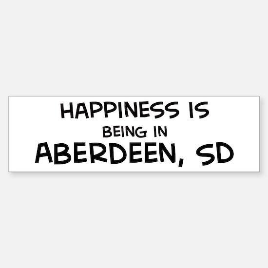 Happiness is Aberdeen Bumper Bumper Bumper Sticker