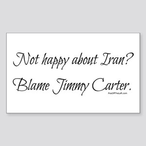 Not happy about Iran? Rectangle Sticker