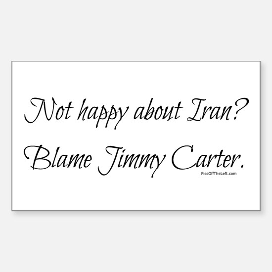 Not happy about Iran? Rectangle Decal