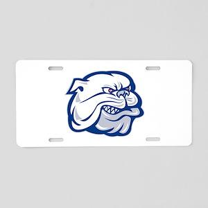 bulldog mongrel dog Aluminum License Plate