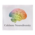 Celebrate Neurodiversity Throw Blanket