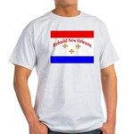 Rebuild New Orleans Flag Ash Grey T-Shirt