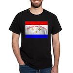 Rebuild New Orleans Flag Black T-Shirt