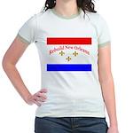 Rebuild New Orleans Flag Jr. Ringer T-Shirt