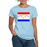Rebuild New Orleans Flag Women's Pink T-Shirt