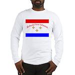 Rebuild New Orleans Flag Long Sleeve T-Shirt