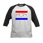 Rebuild New Orleans Flag Kids Baseball Jersey