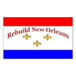 Rebuild New Orleans Flag Rectangle Sticker