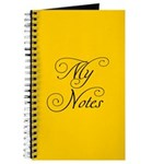 My Notes in Yellow Journal