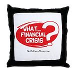 What Financial Crisis Throw Pillow