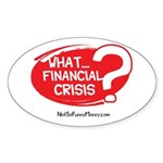 What Financial Crisis Sticker (Oval)