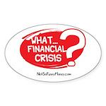 What Financial Crisis Sticker (Oval 50 pk)
