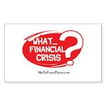 What Financial Crisis Sticker (Rectangle 50 pk)