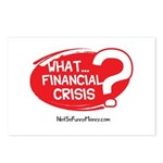 What Financial Crisis Postcards (Package of 8)