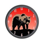 Sunset Grizzly Bear Wall Clock