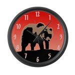 Sunset Grizzly Bear Large Wall Clock