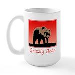 Sunset Grizzly Bear 15 oz Ceramic Large Mug