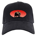 Sunset Grizzly Bear Black Cap with Patch