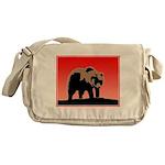 Sunset Grizzly Bear Messenger Bag