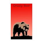 Sunset Grizzly Bear Sticker (Rectangle 50 pk)
