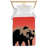 Sunset Grizzly Bear Twin Duvet Cover