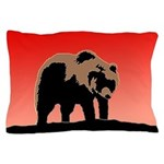 Sunset Grizzly Bear Pillow Case