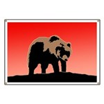 Sunset Grizzly Bear Banner