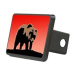 Sunset Grizzly Bear Rectangular Hitch Cover