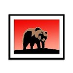 Sunset Grizzly Bear Framed Panel Print