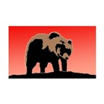Sunset Grizzly Bear 35x21 Wall Decal