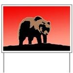 Sunset Grizzly Bear Yard Sign